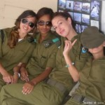 Israeli Army girls relaxing
