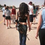israeli girl machine gun