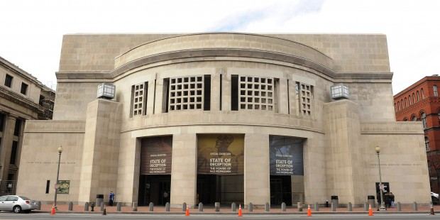 The U.S. Holocaust Museum is seen in Washington on February 20, 2011.    UPI/Roger L. Wollenberg