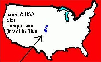 Israel and US size comparison