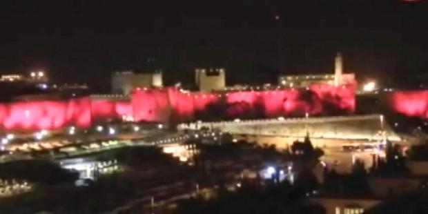 Jerusalem in pink