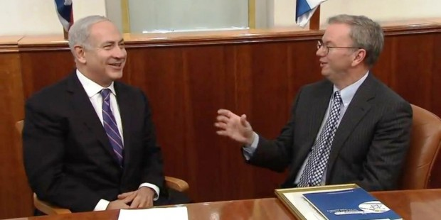 Netanyahu and Google chairman