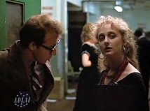 Woody Allen and Carol Kane