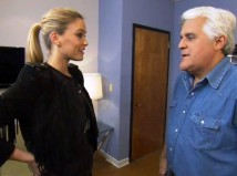 Bar Refaeli and Jay Leno