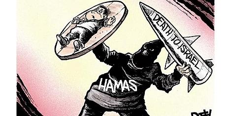 Hamas uses human shields