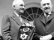 Harry Truman with Chaim Weizmann