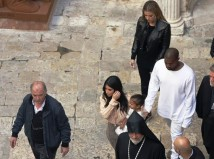 Kanye West, Kim and Khloe Kardashian Israel