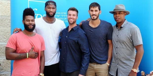NBA stars in Israel