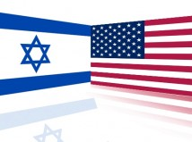 Israel US flags