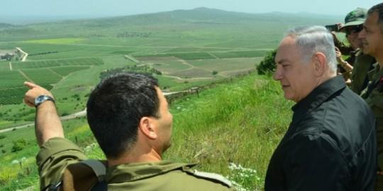 Netanyahu at Golan Heights