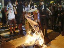 burning-israeli-flag-DNC
